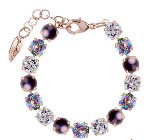 Bracelet Purple Mix , with original Swarovski Crystals